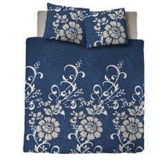 Svilanit pamučna posteljina Ornaments, plava, 140 x 200 + 60 x 80 cm