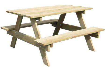 TRIGANO Drewniany Stolik Piknikowy