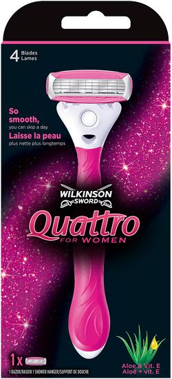 Wilkinson Sword Quattro for Women holiaci strojček + 1 hlavica