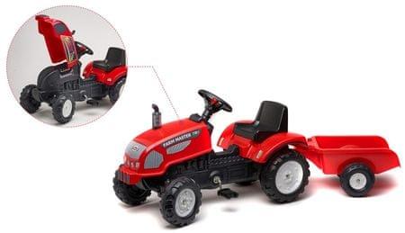 Falk Farm Master traktor piros utánfutóval