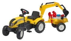 Falk Żółty traktor Ranch Trac z przyczepą