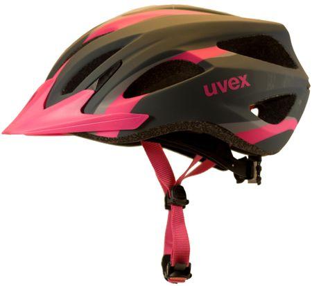 Uvex Kask rowerowy Viva 2 W Anthrazite Pink (2017) 52-57