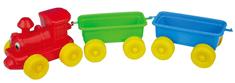 Teddies kolorowa lokomotywa + 2 wagony