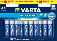 Varta polnilne baterije High Energy Mignon (AA) 10 pack