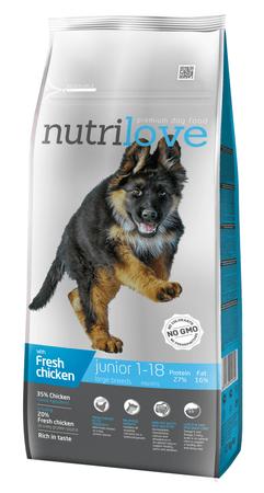 Nutrilove hrana za pasje mladiče velikih pasem, 12kg + 2,4kg