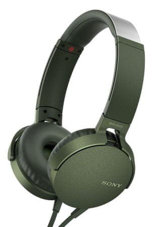 Sony slušalke MDR-XB550APB, zelene