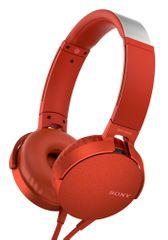 Sony MDRXB550APR.CE7, červená - rozbaleno