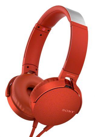 SONY MDR-XB550AP, piros