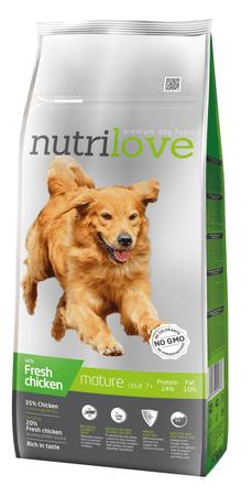 Nutrilove Senior kutyatáp - 12kg