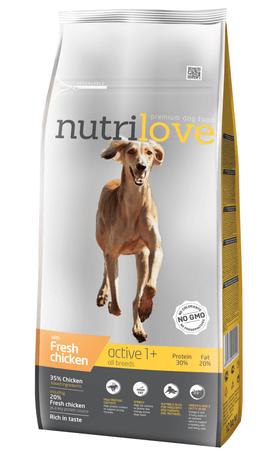 Nutrilove Aktív kutyatáp, csirke 12kg