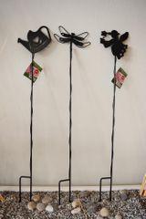 Previosa Ocelové podpěry rostlin 72 cm, 3 ks (víla, vážka, konev)