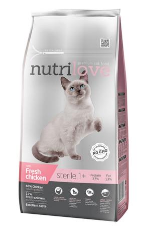 Nutrilove mačja hrana, sterile 7kg
