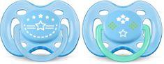Philips Avent Sensitive 2 db-os altató fiú cumi, 0-6 hónap