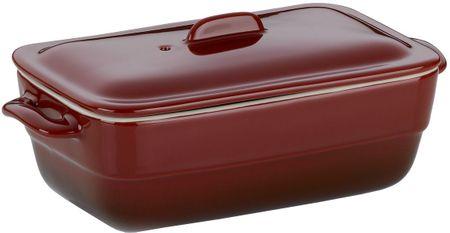 Kela ceramiczna brytfanna MALIN, 21 x 10 cm, czerwona