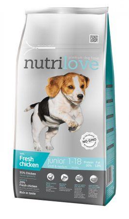 Nutrilove hrana za pasje mladiče, piščanec, 8 kg