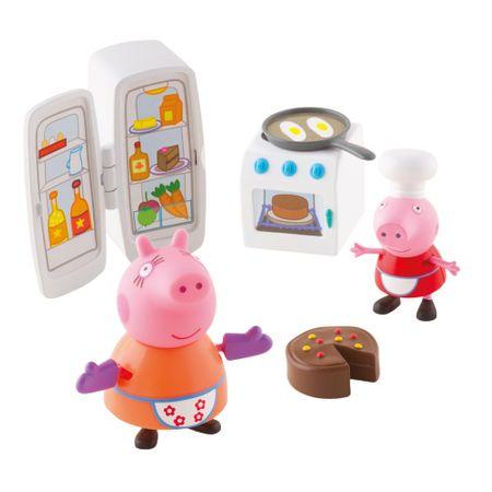 TM Toys Peppa Pig - konyhai készlet + 2 figura
