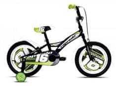 Capriolo dječji bicikl BMX Mustang 16, crno-zeleni
