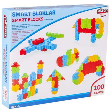 Pilsan építőjáték Smart Blocks - 100 db