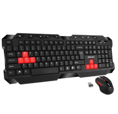 Astrum KW350 Gaming vezeték nélküli billentyűzet + egér (angol kiosztás)