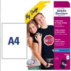 Avery Zweckform folije za preslikavo na temne majice, MD1004