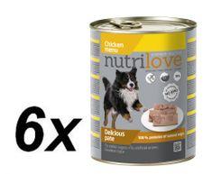 Nutrilove Nutrilove dog paté CHICKEN 6 x 800g