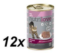 Nutrilove mokra karma dla kota z cielęciną 12 x 400g