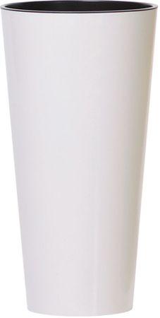 J.A.D. TOOLS Kvetináč TUBUS SLIM 250 mm, biely