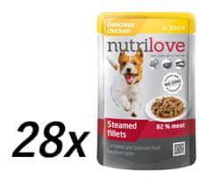 Nutrilove saszetki dla psa z kurczakiem 28 x 85g
