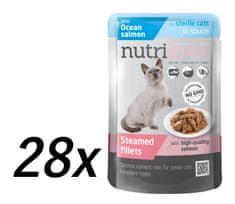 Nutrilove Cat pouch NMP, STERILE, gravy salmon 28 x 85g