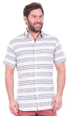 Brakeburn pánská pruhovaná košile M biela