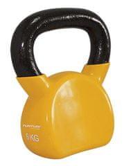 Tunturi Winylowa Kettlebell żółta 6 kg