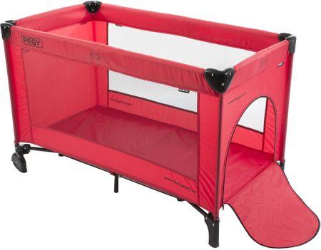 Babypoint łóżeczko podróżne Pegy, Red