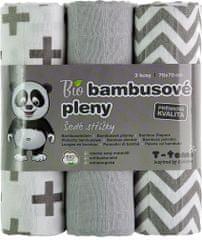 T-tomi BIO Bambusové plienky, sivé striešky