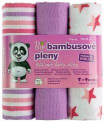 T-tomi BIO Bambusové plienky, ružové hviezdičky