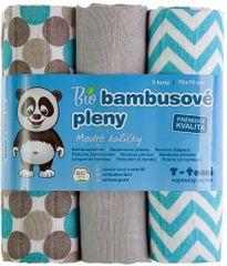 T-tomi BIO Pieluchy bambusowe, niebieskie grochy