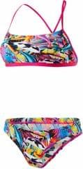 Speedo Strój kąpielowy Digital 2 Piece Xback Electric Pink/Orchid/Black