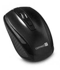 Connect IT bezdrátová optická myš, černá (CI-1223)