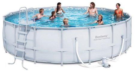 Bestway bazen Frame Pool set, 549 x 132 cm, s kartušno črpalko, lestev, podlogo, prevleko