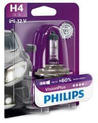Philips Żarówka samochodowa VisionPlus H4, 12 V, 60/55 W (1 szt.)