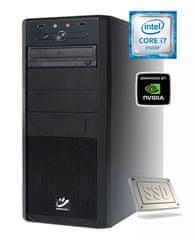 mimovrste=) namizni računalnik Power 7 - i7-7700/8GB/256SSD/1TB/GTX1050Ti-4GB