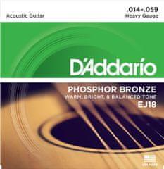 Daddario EJ18 Kovové struny na akustickú gitaru