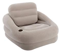 Intex napihljiv fotelj Accent Cair, sive barve, 97x107x71 cm