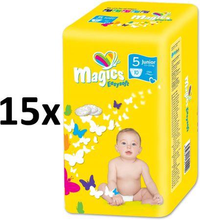 Magics Pieluchy Easysoft 5 Junior (11-25 kg) Multipack 150 szt. (15x10 szt.)