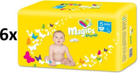 Magics Pieluchy Easysoft 5 Junior (11-25 kg) Megapack 252 szt. (6x42 szt.)