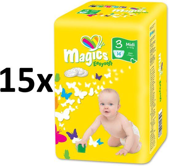 Magics Easysoft 3 Midi (4-9 kg) Multipack 210 ks (15x14 ks)