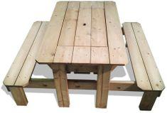 CUBS Impregnovaný piknikový stůl s plastovým boxem - rozbaleno