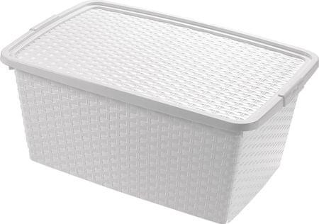 Heidrun Box ratanový 40 l, biela