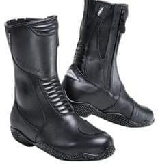 Motoristični usnjeni škornji ROAD Touring 1.0, ženski, črni