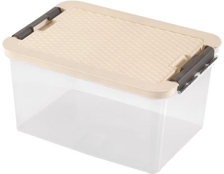 Heidrun škatla za shranjevanje z ratan pokrovom, 38 l, bež