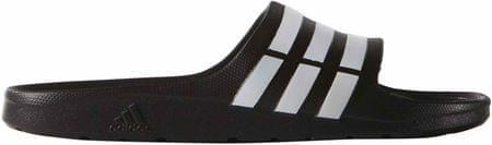 Adidas natikači Duramo Slide, beli/črni, 47.3